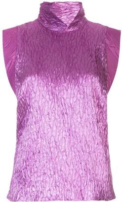 Rachel Comey funnel neck crease effect knit top