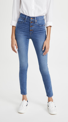 Madewell 10'' High Rise Skinny Button Front Jeans