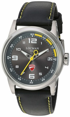 Locman Analog Quartz Watch with Stainless Steel Strap Clear 23 (Model: 4573282437551)