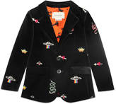 Gucci Children's embroidered velvet jacket