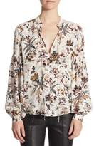 A.L.C. Bishop Sleeves Silk Blouse