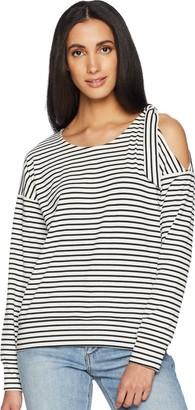 MinkPink Women's Full Moon Stripe Tie Shoulder Sweatshirt
