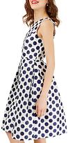 Closet Princess Polka Dot Seam Dress, White/Navy