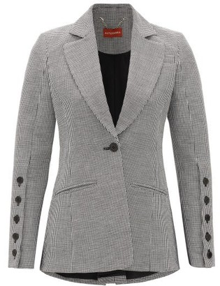 Altuzarra Longview Single-breasted Linen-blend Jacket - Black White