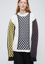 J.W.Anderson Off-White Multi-Cable Turtleneck Sweater