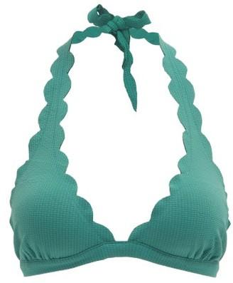 Marysia Swim Spring Scalloped-edge Bikini Top - Womens - Blue