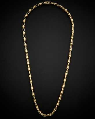 Italian Gold 14K Men's Bullet Link Necklace