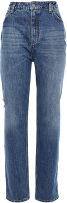 Victoria Victoria Beckham Victoria, Victoria Beckham Distressed High-rise Straight-leg Jeans