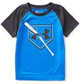 Under Armour Little Boys 2T-7 Breaking Bat Raglan Short-Sleeve Graphic Tee