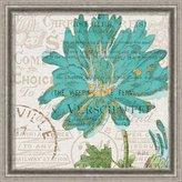 Amanti Art Canvas Art Framed 'Bookshelf Botanical IV' by Katie Pertiet