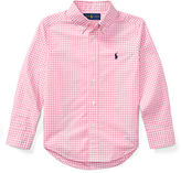 Ralph Lauren 2-7 Gingham Cotton Poplin Shirt