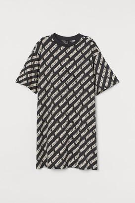 H&M Printed T-shirt dress