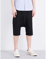 Comme Des Garcons Shirt Regular-fit Wool-blend Shorts
