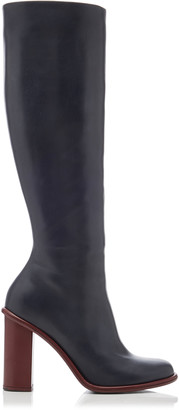 Marina Moscone Leather Knee-High Boots