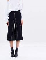 CHRISTOPHER ESBER Leather Inlet Zip Down Culottes