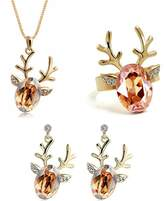 AmaranTeen - 18K Gold Plated Austrian Crystal Cute Lovely Jewelry Sets