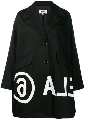 MM6 MAISON MARGIELA printed coat