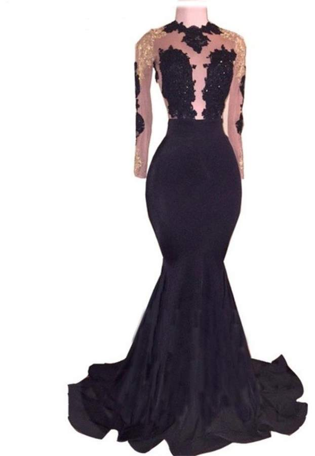 93575c673a0 Lace Sleeve Prom Dress - ShopStyle Canada