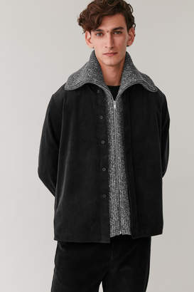 Cos HIGH NECK WOOL-COTTON COLLAR