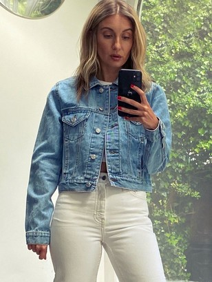 Topshop Petite Tilda Denim Jacket - Blue