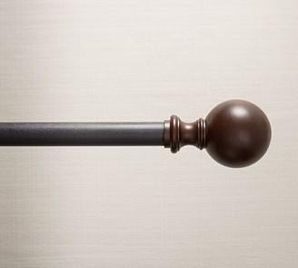 Pottery Barn Cast Iron Wood Ball Finial Curtain Rod