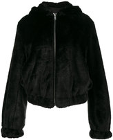 Helmut Lang - teddy hood faux fur jac