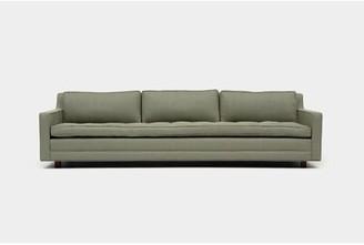 """Artless 94"""" Square Arm Sofa Fabric: Moss Linen Blend"""