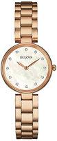 Bulova Diamond Gallery Ladies' Rose Gold Tone Bracelet Watch