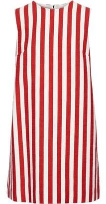 Dolce & Gabbana Striped Stretch-cotton Tweed Mini Dress