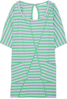 See by Chloé Striped oversized cotton-blend T-shirt dress