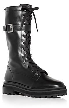 Schutz Women's Moly Tall Combat Boots