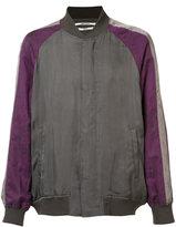 Robert Geller contrast bomber jacket - men - Cupro - 46