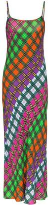 Rixo Holly rainbow check-print dress