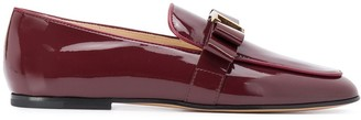 Tod's T-logo almond-toe loafers