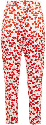 Victoria Victoria Beckham Printed Woven Straight-leg Pants