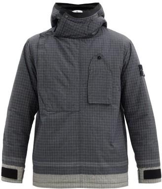 Stone Island Hooded Reflective Ripstop Jacket - Black