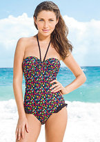 Floral Cinched Bandeau One-Piece