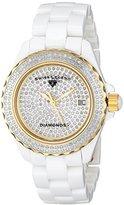 Swiss Legend Women's 20052-WWTG Karamica Pave Diamond Dial High Tech White Ceramic Watch