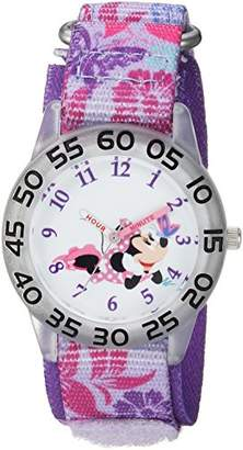 Disney Girls Minnie Mouse Analog-Quartz Watch with Nylon Strap