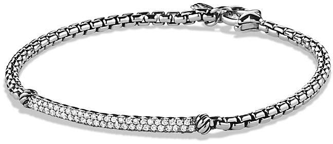 David Yurman Petite Pavé Bar Metro Bracelet with Diamonds