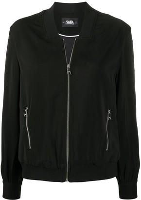 Karl Lagerfeld Paris Snap-Sleeve Bomber Jacket