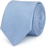 Reiss Ishia - Dotted Silk Tie in Blue, Mens