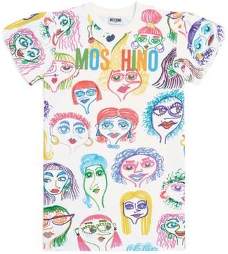 Moschino Kids Face Print Dress