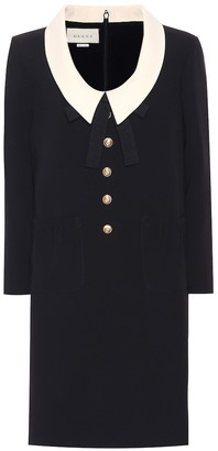 Gucci Silk and wool cady dress