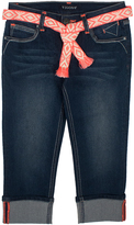 Vigoss Blueberry Cream Belted Crop Pants - Girls