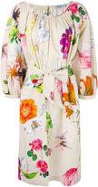 Blumarine floral print belted dress - women - Cotton/Spandex/Elastane - 44