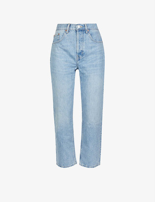 Topshop Editor high-rise faded jeans