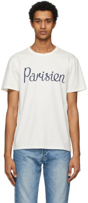 MAISON KITSUNÉ Off-White Parisien T-Shirt