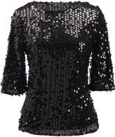 jeansian Women's Summer Fashion Sparkling Sequined T-Shirt Tops WHS202 XL