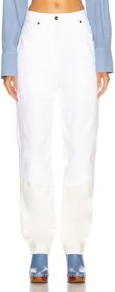 Jacquemus Beli Straight in White & Beige | FWRD